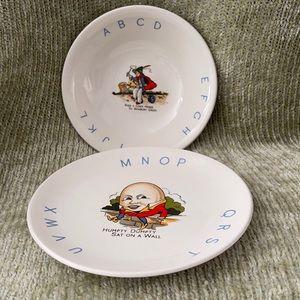 Antique Nursery Rhyme Plate/Bowl Set - Old Foley